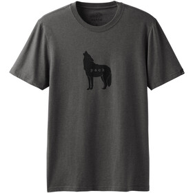 Prana Wolf Pack Journeyman Camiseta Manga Corta Hombre, charcoal heather
